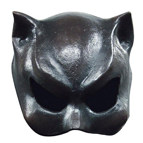Mask Cat Girl Adult Half (Adult size Half Face Black Cat Girl Mask - Latex)