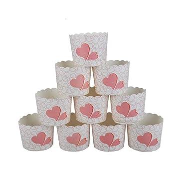 Fablcrew 50 Stück Cupcake Formen Aus Papier Form Für Kuchen Muffins Dekoration Hochzeit Geburtstag Party Taufe