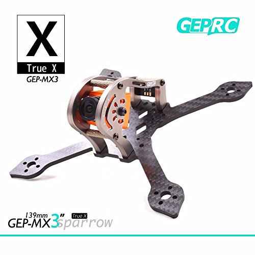 Crazepony GEPRC Sparrow 139MM FPV Frame with RGB LED 3K Carbon Fiber Frame 3mm Thickness Support RUNCAM Swift Mini and Micro Swift lens for Racing Quadcopter Drone (Carbon Fiber Cnc Frame)
