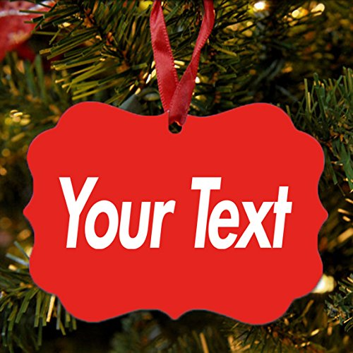 BRGiftShop Personalize Your Own Hipster Font Text Christmas Tree Ornament