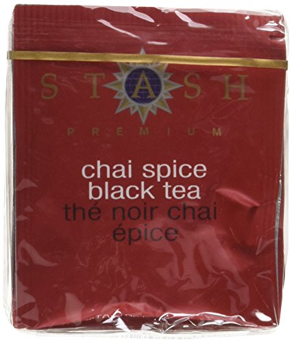 Stash Tea Chai Spice Black Tea 10 Count Tea Bags in Foil (Pack of 12) (packaging may vary), Tea Bags Individually Wrapped in Foil, Premium Black Tea Blended with Invigorating, Warming Spices by Stash Tea