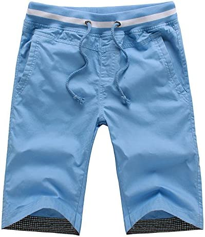 WDDGPZ Pantalones Cortos De Playa/Verano Shorts Deportivos Hombres Rectos De Algodón Mens Shorts Solid Slim Cool Beach Los Pantalones Cortos para Los Hombres Cortos Hombre,Cielo Azul,4XL: Amazon.es: Deportes y aire libre