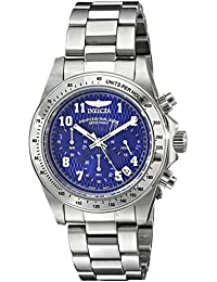 Men's 17024 Speedway Analog Display Japanese Quartz Silver Watch
