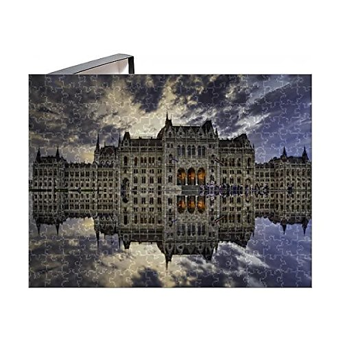 252 Piece Puzzle of Hungarian Parliament Building sunset reflection (13871104)