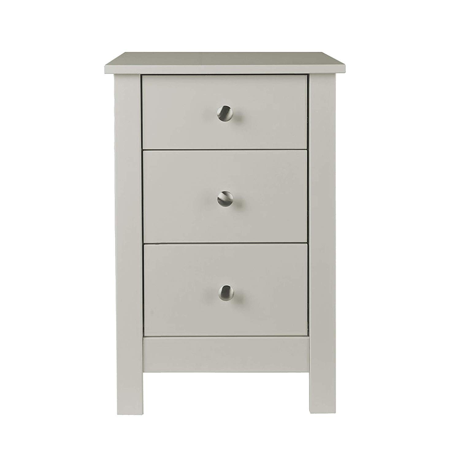 Furniture To Go | Florence 3 Drawer Shaker Bedside Cabinet with Smooth Lacquer Finish - Black NJA 1040120