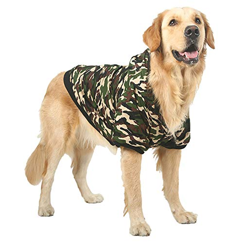 e Pet Winter Hoodie Jackets for Large Dog Fleece Warm Hooded Coats Clothes for Labrador Bulldog Dog Apparels (4XL(Bust 25.1