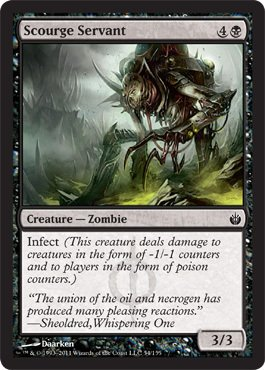 Magic: the Gathering - Scourge Servant - Mirrodin Besieged