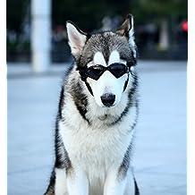 Namsan Dog V-type Sunglasses UV Protection Fashion Eyewear Goggles Large, Black