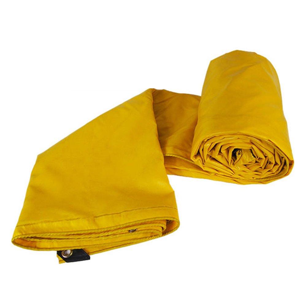 AJZGF Im Freien Tarpaulin Wasserdichtes Sonnenschutzzelt Tuch Dreirad Auto Plane Anti-Korrosions-Anti-Aging, gelb (Farbe : Gelb, größe : 4X8M)