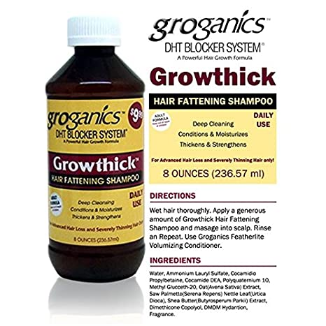 groganics DHT growthick pelo engorde Champú 236.57 ml: Amazon.es: Belleza