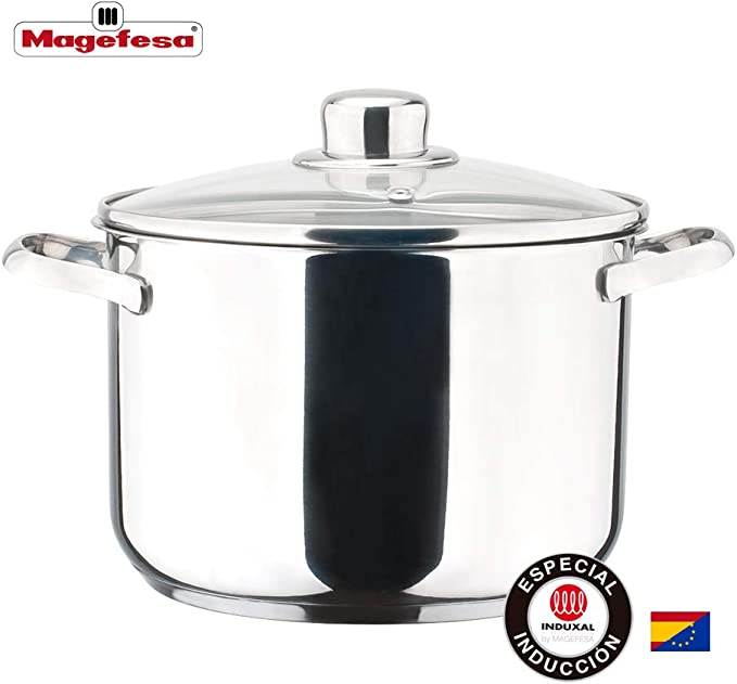 MAGEFESA Dux – La Familia de Productos MAGEFESA Dux está Fabricada en Acero Inoxidable 18/10, Compatible con Todo Tipo de Fuego. Fácil Limpieza y Apta lavavajillas. (TARTERA, 26_cm): Amazon.es: Hogar