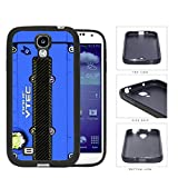 Honda JDM Series Rubber Silicone Phone Case Cover Samsung Galaxy s4 sIV I9500 (Blue)
