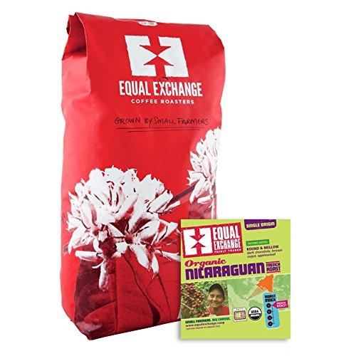 EQUAL EXCHANGE ORGANIC COFFEE NICARAGUAN FRENCH ROAST WHOLE BEAN COFFEE 5 LB.