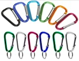 144 VAS #5 50mm Bulk Pack MINI Aluminum Carabiners Key Chains – Assorted Colors, Outdoor Stuffs