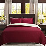 """#4: QUALITEX Solid Color 3-piece Reversible Bedspread Bed Coverlets Cover Sets King Size: 100"""" x 90"""""""