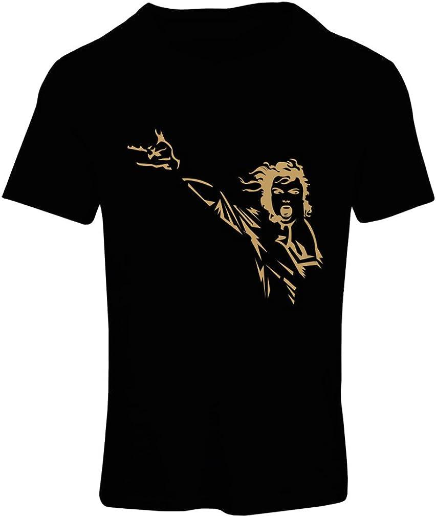 lepni.me Camiseta Mujer King of Pop, me Encanta M J - 80s / 90s, Camisa de Fiesta Musical