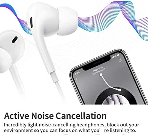 2 Pack-Apple Earbuds/Headphones/Earphones with 3.5mm Wired in Ear Headphone Plug(Built-in Microphone & Volume Control) Compatible with iPhone,iPad,Compter,MP3/4,Android etc[Apple MFi Certified] 51oUcsCuQrL