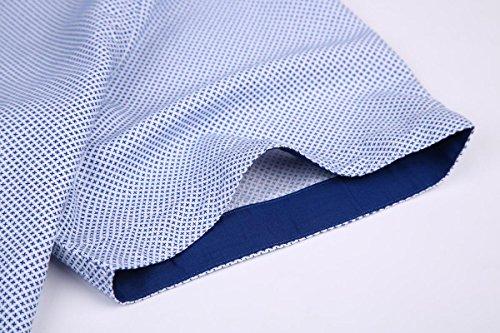 Mens Long Sleeve Printed Dress Shirts Casual Button Down Regular Fit Men Shirt