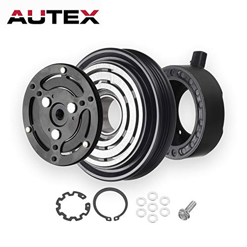 AUTEX AC A/C Compressor Clutch Coil Assembly Kit 4472607940 73111AG000 73111AJ040 88410B1010 Compatible with Subaru Legacy 4CYL 2.5L & Subaru Outback 4CYL 2.5L 2005 2006 2007 2008 2009
