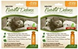 SENTRY Natural Defense Flea and Tick Squeeze-On Dog 15-40lb 6mo (2x3mo), My Pet Supplies