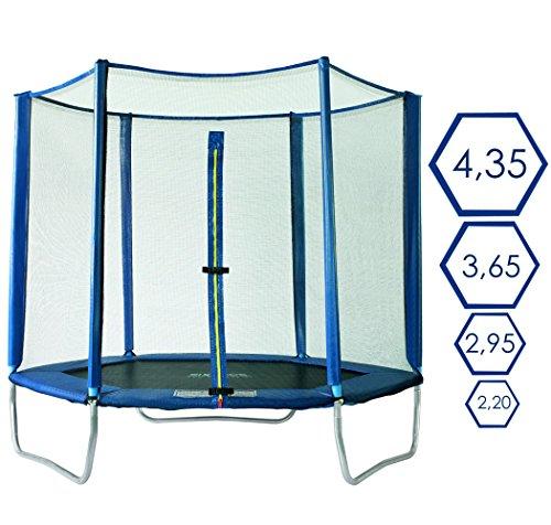 SixBros. SixJump 2,20 M Polygon Gartentrampolin Blau Trampolin - Sicherheitsnetz - PB220/2049