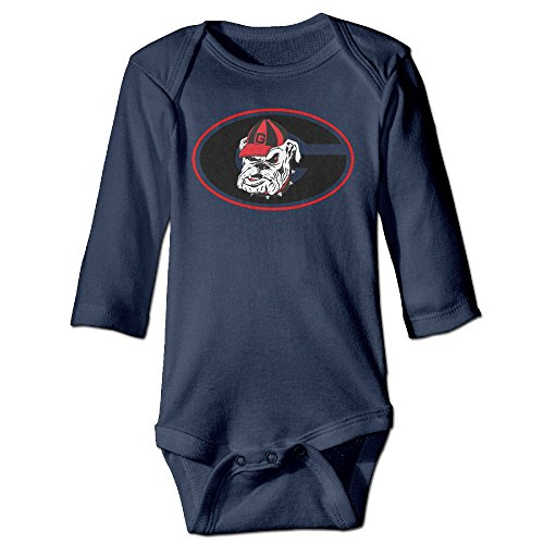 Price comparison product image Bro-Custom University Of Georgia G Mascot For 6-24 Months Infant Romper Bodysuit 18 Months Navy