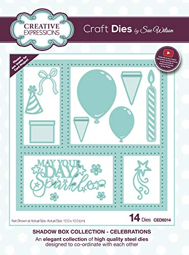 - Creative Expressions Craft Die CED9314 Sue Wilson Shadow Boxes Collection Celebrations