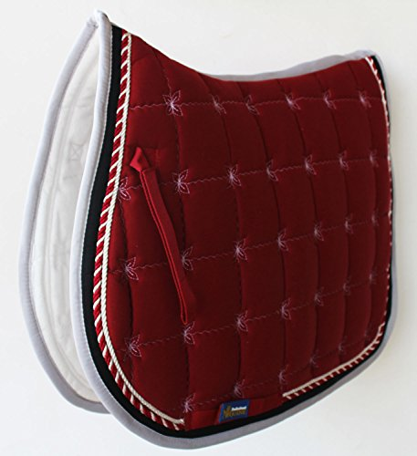 Horse Cotton Quilted All Purpose ENGLISH SADDLE PAD Contoured Burgundy 72F36 Contoured Pad
