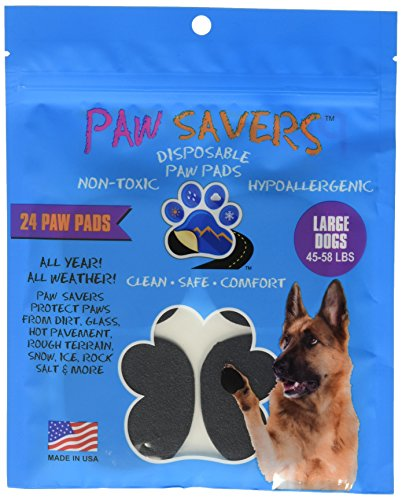 - Large Paw Savers, Disposable Dog Paw Pads, (45-58 lbs) 24 Pieces