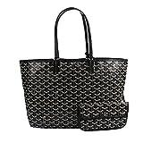 Stylesty High Grade Fashion Design Shopping PU Tote Bag Shoulder Handbags with Coin Pouch, Medium (balck)