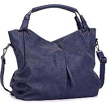 Handbags for Women WISHESGEM Large Capacity Ladies Hobo Purses Top Handle PU Leather Shoulder Bags