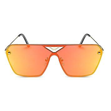 XYLUCKY 2017 Neue Metall helle Farben Sonnenbrille Frameless Stück der Gläser , a