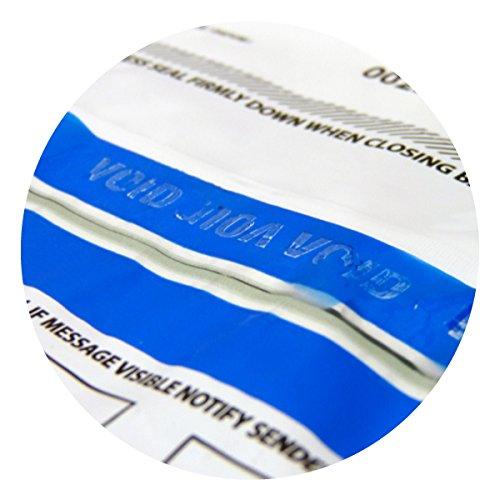 opacas A4 para guardar efectivo o Pruebas 100 bolsas/Grandes con precinto para mostrar si ha sido manipulada