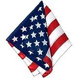 "Old Glory Team Spirit American Flag Printed Bandana Accessory, Poly-cotton, 21"""