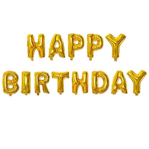 LFM Cute Alphabet Letters Balloons Happy Birthday Party Decoration Aluminum Foil Membrane Balloon