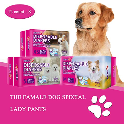 SENYE PET Disposable Dog Diapers Female Wraps (S)