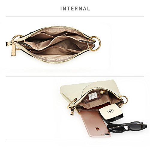 3 Over Beige Shoulder New Design Handbag Bags Messenger Womens Cross Crossbody Ladies Body PF1xBq66