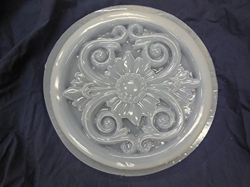 Cheap  Decorative Floral Design Concrete or Plaster Stepping Stone Mold 1301