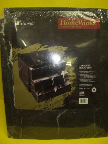 Fellowes, Homeworks(TM) Classic Collection, 3 Drawer Organizer, Assembled Dimensions, 12 7/8