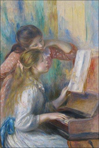 (42x63 Poster; Jeunes Filles Au Piano By Pierre-Auguste Renoir 1892)