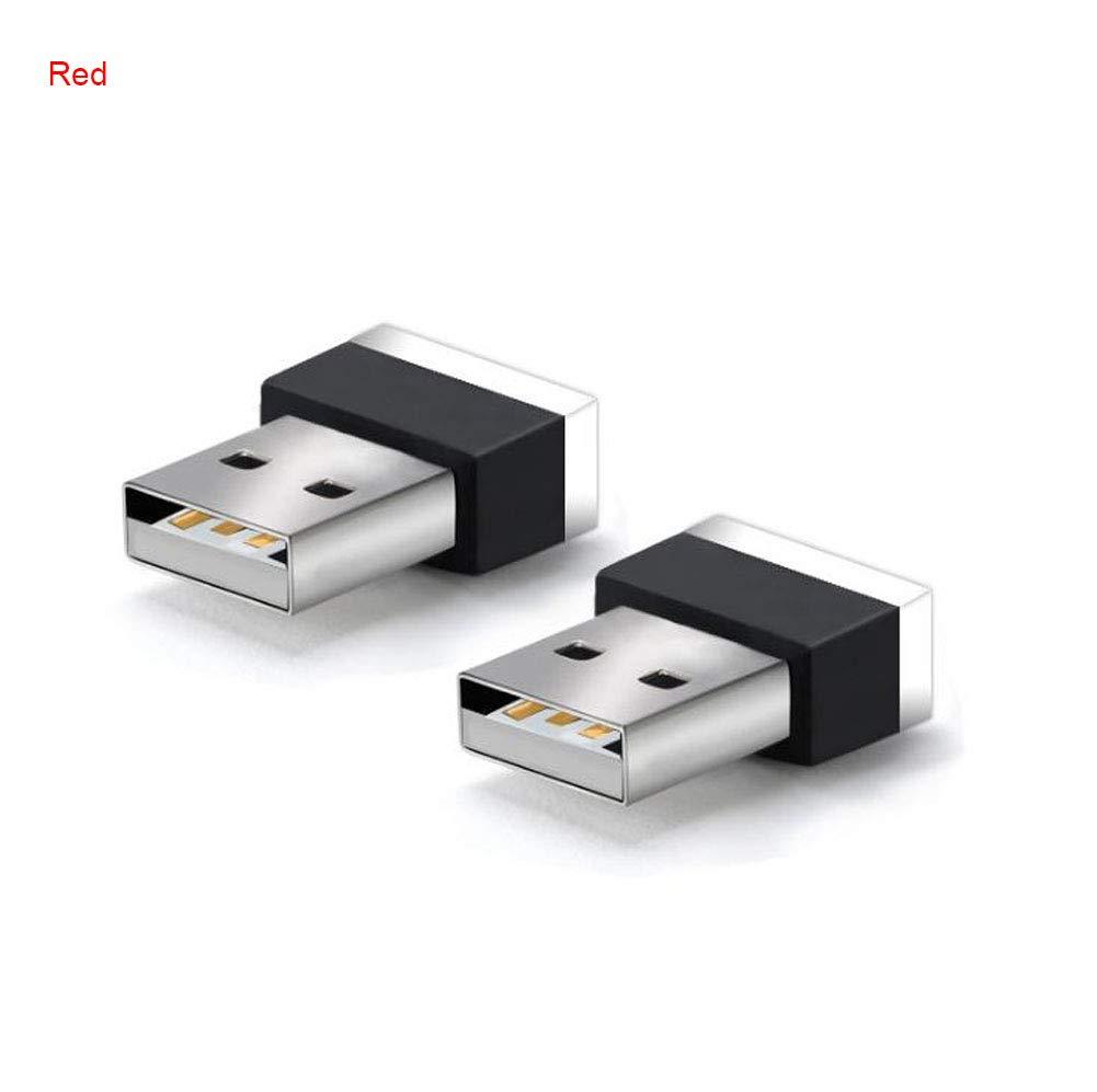 rosso KATURN auto USB LED atmosfera luci decorative lampada proiettore luci di emergenza universale per PC portatile
