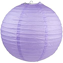 "WYZworks Round Paper Lantern 12-Pack (Lavender, 10"") - Wedding Decoration Party Chinese Festival Lamp Shades Fiesta"