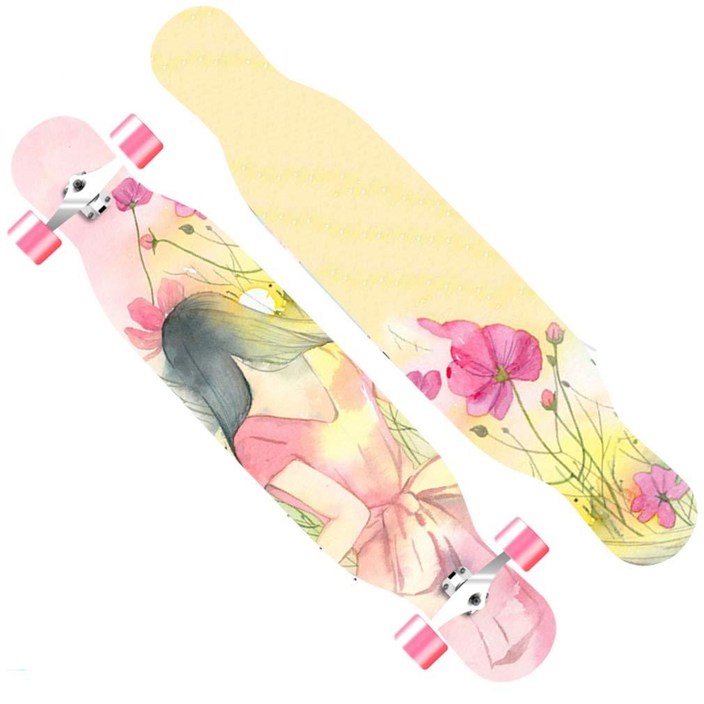 DUBAOBAO Completa Skateboard Longboard da 40 Pollici, colore della Carta vetrata Antiscivolo, Sostituzione della Piastra rossota, Regalo Perfetto,3
