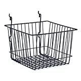 Wire Basket Slatwall Gridwall Pegboard Display Store Fixture Lot of 6 Black NEW