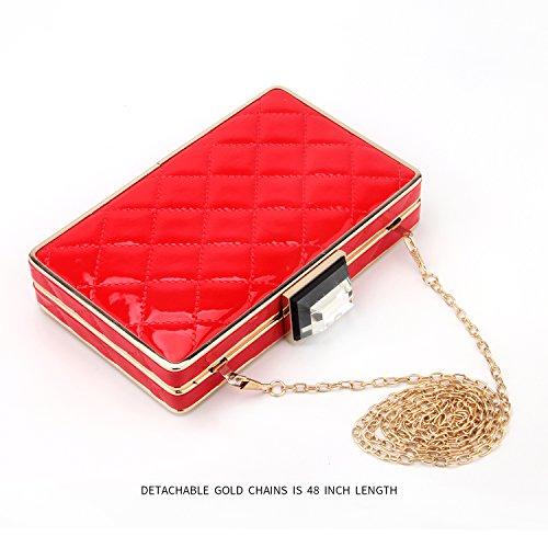Rhinestone �C Clutch Bags Bags For Prom party Wedding Purse Handbags Bags Clutch Purse Evening Red Women Bridal nxRHRrYqw