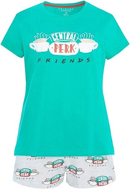 Primark Friends Tv Series  Sleeveless Top /& Shorts Pyjama Pajama Pj Set Ladies