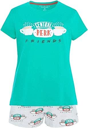 -:Disney:- Camiseta y Pantalones Cortos de Pijama para Mujer, de la Serie Primark Friends, Modelo Central Perk