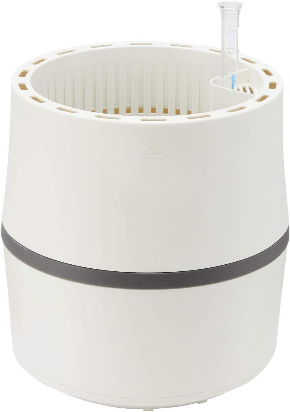 AIRY Sistema S (Ø 22 cm) – Sistema patentado con la fuerza de las plantas como purificador de aire natural y humidificador para interiores (Snow White/Stone Grey)
