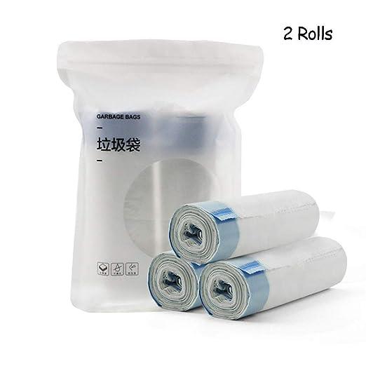 Bolsas de Basura con Cordón,Handy Bag Bolsas de Basura Recicladas, Ultra Grueso y Duradero,Bueno Para Hogar,Cocina,Sala de Estar y ...