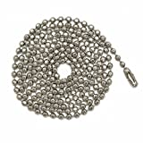 3 Foot Length Ball Chains, 6 Size, Sparkling